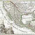 1810 Tardieu Map Of Mexico Texas And California by Paul Fearn
