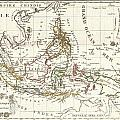 1810 Tardieu Map Of The East Indies Singapore Southeast Asia Sumatra Borneo Java by Paul Fearn