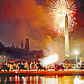 1812 Overture Cannon Flash Washington by Steven Barrows