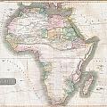 1813 Thomson Map Of Africa by Paul Fearn