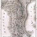 1814 Rizzi Zannoni Map Of Italy by Paul Fearn
