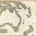 1814 Thomson Map Of Australia New Zealand And New Guinea by Paul Fearn