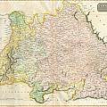 1814 Thomson Map Of Bavaria Germany by Paul Fearn