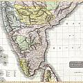 1814 Thomson Map Of India by Paul Fearn