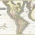 1814 Thomson Map Of North And South America by Paul Fearn