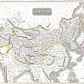 1814 Thomson Map Of Tartary  Mongolia Tibet by Paul Fearn