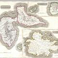 1815 Thomson Map Of Guadaloupe Antigua Marie Galante  West Indies by Paul Fearn