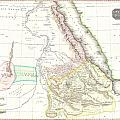 1818 Pinkerton Map Of Abyssinia  Ethiopia  Sudan And Nubia by Paul Fearn