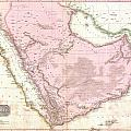 1818 Pinkerton Map Of Arabia And The Persian Gulf by Paul Fearn