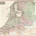 1818 Pinkerton Map Of Holland Or The Netherlands by Paul Fearn