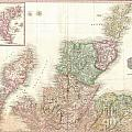 1818 Pinkerton Map Of Northern Scotland by Paul Fearn