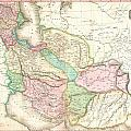 1818 Pinkerton Map Of Persia  by Paul Fearn