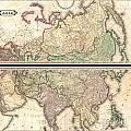 1820 Lizars Wall Map Of Asia by Paul Fearn