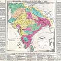 1821 Carey Map Of India  by Paul Fearn