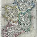 1822 Butler Map Of Ireland by Paul Fearn