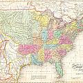 1823 Melish Map Of The United States Of America by Paul Fearn