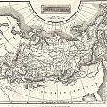 1826 Assheton Map Of Russia In Asia by Paul Fearn