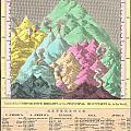 1826 Finley Comparative Map Of The Principle Mountains Of The World by Paul Fearn
