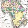 1827 Finley Map Of Africa by Paul Fearn