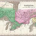 1827 Finley Map Of Canada  by Paul Fearn