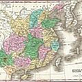 1827 Finley Map Of China  by Paul Fearn