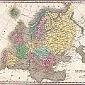 1827 Finley Map Of Europe by Paul Fearn