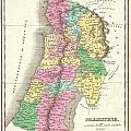 1827 Finley Map Of Israel  Palestine Holy Land by Paul Fearn