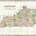 1827 Finley Map Of Kentucky by Paul Fearn