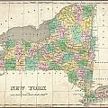 1827 Finley Map Of New York State by Paul Fearn