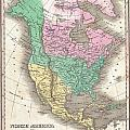 1827 Finley Map Of North America by Paul Fearn