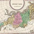 1827 Finley Map Of Russia In Asia by Paul Fearn