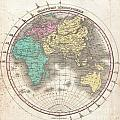 1827 Finley Map Of The Eastern Hemisphere  by Paul Fearn