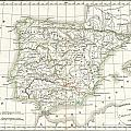 1832 Delamarche Map Of Spain And Portugal Under The Roman Empire  by Paul Fearn