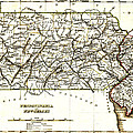 1835 Pennsylvania And New Jersey Map by Bill Cannon