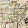 1835 Webster Map Of The United States by Paul Fearn