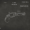 1836 First Colt Revolver Patent Artwork - Gray by Nikki Marie Smith
