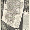 1852 Levasseur Map Of The Department L Aisne France by Paul Fearn
