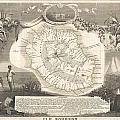 1852 Levasseur Map Of The Reunion Or The Ile Bourbon Indian Ocean by Paul Fearn