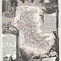 1852 Levasseur Mpa Of The Department De La Loire France Loire Valley Region by Paul Fearn