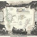 1852 Levassuer Map Of Senegal Senegambia And Madagascar by Paul Fearn