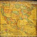 1854 Jacob Monk Wall Map Of North America by Paul Fearn