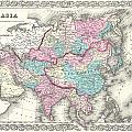 1855 Colton Map Of Asia by Paul Fearn