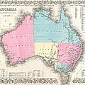 1855 Colton Map Of Australia by Paul Fearn