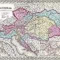 1855 Colton Map Of Austria Hungary And The Czech Republic by Paul Fearn