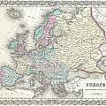 1855 Colton Map Of Europe by Paul Fearn