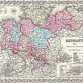 1855 Colton Map Of Hanover And Holstein Germany by Paul Fearn