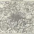 1855 Colton Map Of London by Paul Fearn