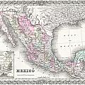 1855 Colton Map Of Mexico - Geographicus1855 Colton Map Of Mexico - Geographicus by Paul Fearn
