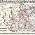 1855 Colton Map Of Minnesota by Paul Fearn