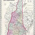 1855 Colton Map Of New Hampshire by Paul Fearn
